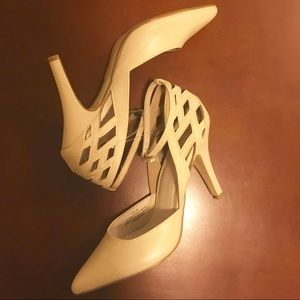 """New Restricted Ivory Pointed Toe 4"""" Pumps"""